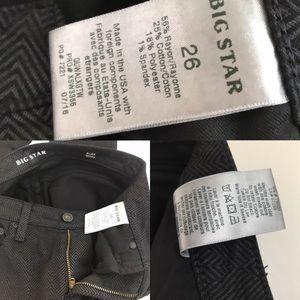 Big Star Jeans - Big Star Alex Skinny Jeans Pants 26 Black Gray
